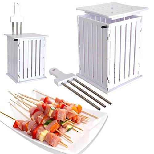 (36 Löcher Kebab Maker Box, Edelstahl Spieße Kebab Gemüse Obst Maker Box Rindfleisch Fleisch Werkzeuge Barbecue gute Helfer \ TV Produkt)