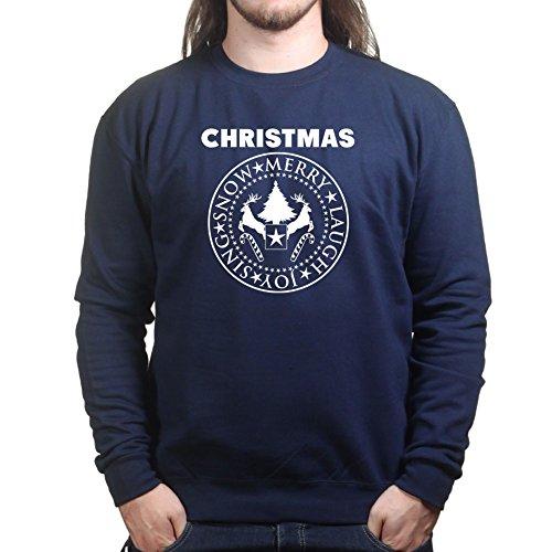 Mens Christmas Presidential Seal Xmas Santa Gift Sweatshirt 2XL Navy Blue - Santo Seal