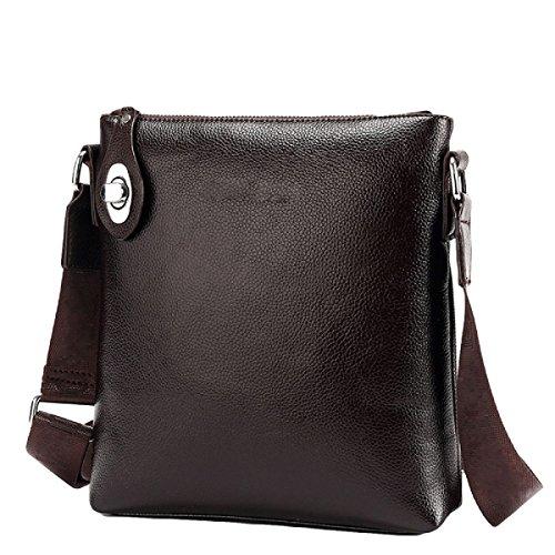 Hochwertige Einfache Schloßgroße Kapazitätsmänner Schultertasche Computertasche Handtaschen Aktenkoffer Brown