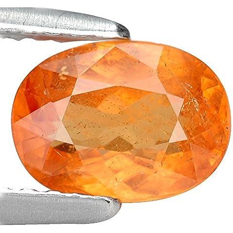 1.26 CT. natural genuina SI Tanzania Granate mandarina Con certificación GLC
