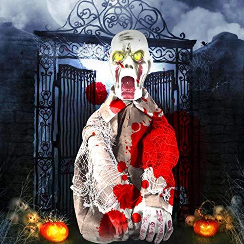 JIBO Control De Terror De Medio Cuerpo Fantasma Colgando Suministros De Halloween Bar Decoración De Halloween Colgando Fantasma Casa Embrujada Accesorios De Vacaciones De Miedo