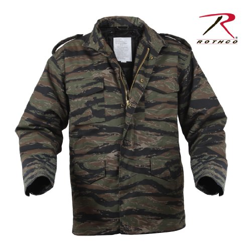 Rothco M-65 Field Jacket With Liner - TIGER STRIPE M-65 Field Jacket Liner