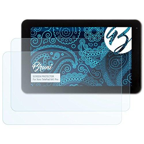 Bruni Schutzfolie für Xoro TelePad 9A1 Pro Folie, glasklare Bildschirmschutzfolie (2X)