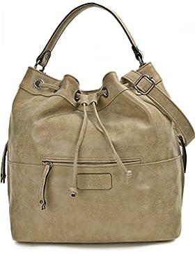 MIYA BLOOM, Damen Handtaschen, Shopper, Schultertaschen, Umhängetaschen, Beuteltasche, Hobo Bucket Bag, 37 x 31...