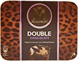 Glace Magnum double chocolat - 4 x 77 g