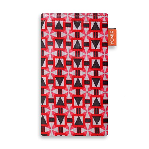 YOMIX Handytasche | Tasche | Hülle Selma für Xiaomi Blackshark Helo aus Wachstuch mit genialer Display-Reinigungsfunktion durch Microfaserinnenfutter