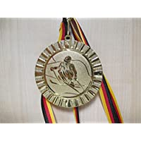 Minigolf Kinder Medaillen 70mm Emblem 50mm mit Deutschland-Bändern Pokal Turnier Pokale & Preise