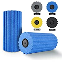 ULTRAPOWER SPORTS 3/6-Speed Vibrating Yoga Foam Roller EPP with Remote Control & USB cable High Intensity Vibration Technology Cylinder Roll of Foam Perfect for Deep Tissue Muscle Massage,Myofascial Fast Pain Release And Tight Muscles - Ideal for Runner Cyclist / Footballer / Athlete / slimming Exercise / Stretches / Fitness / Crossfit Gym / Massage (black / blue)