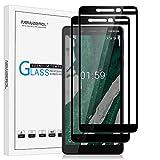NEWZEROL 2 Packs Screen Protector for Nokia 1 Plus [Full