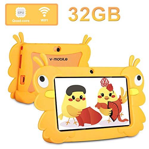tablet bimbi Tablet Bambini 7 Pollici WiFi Offerte Quad Core 2GB RAM+32 GB ROM Andriod 6.0 e Dual Cámara 2800mAh Software per Bambini iWawa preinstallato/Play Store Kids Tablet Offerta Del Giorno (Giallo)
