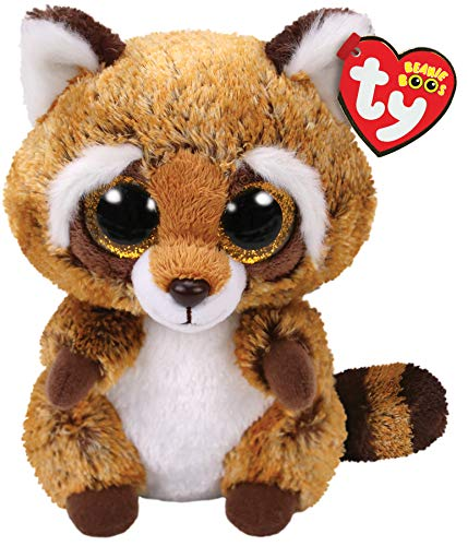 "Beanie Boo Racoon -Rusty - Brown - 15cm 6"""