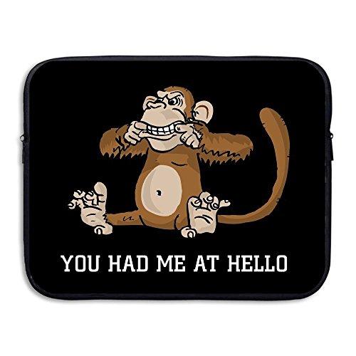 Hello Haus Von Bag (ZMviseBlack Monkey You Had Me At Hellodie schlanke, gepolsterte laptop weicher neopren - ärmel tasche fall decken für notebook - computer ipad - tablet)