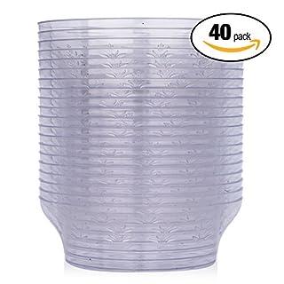40er Set Dessertschalen aus Plastik – transparente Dessertbecher, Eisbecher & Plastikschälchen aus Kunststoff als Einweggeschirr oder wiederverwendbar – Catering und Party Becher