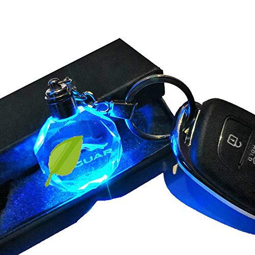 VILLSION LED Jaguar Llavero Accesorios Colores Cambiantes Logo Coche con luz LED Llave