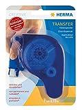 Herma 1067 Klebespender Transfer ablösbar (Klebespur 15 m x 9 mm, Kleberoller nachfüllbar) blau, 1 Stück Bastelkleber lösemittelfrei