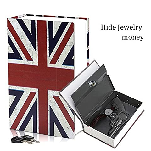 HANDSOME Big Size Book Diversion Hidden Secret Book Safe With Strong Metal Case inside and Key Lock Size 9.4*6.3* 2.3
