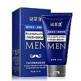 Prevently Haarentfernungscreme für Männer Enthaarungsmittel Dauerhafte Körper Haarentfernung Creme Hand Bein Haarausfall Enthaarungscreme (Blau)