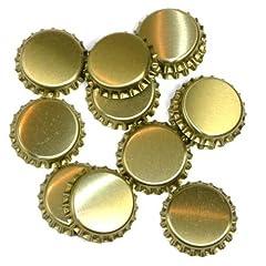 Idea Regalo - Tappi forati Ø 26mm con guarnizione in plastica per bottiglie standard utilizzabile, gold, 1000 Stück Kronkorken