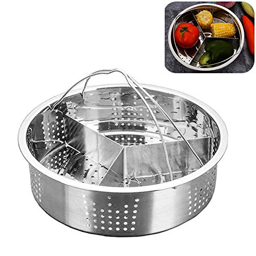 Trio separator set separator pratico verdure cucina kitchen tool pot accessori divisore acciaio inossidabile con manico forniture domestiche grid basket durable removable