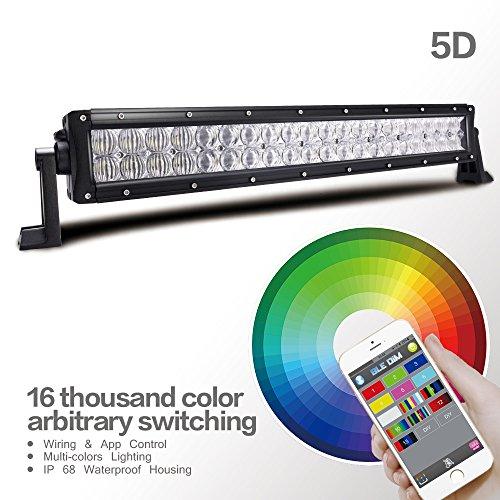 Preisvergleich Produktbild MICTUNING 22 Zoll RGB-Lichtleiste 5D-Effekt-LED Zusatzscheinwerfer Arbeitslampe App-Steuerung in Deutsch für LKW, Jeep ,SUV und andere Modelle 120 W