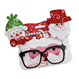 Noel Pere Costume Lunettte Christmas Glasses Xmas Party Props (D)