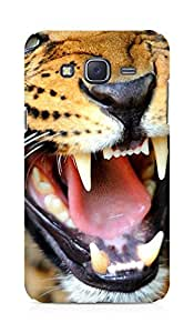 Amez designer printed 3d premium high quality back case cover for Samsung Galaxy J5 (Crazy angry leopard)