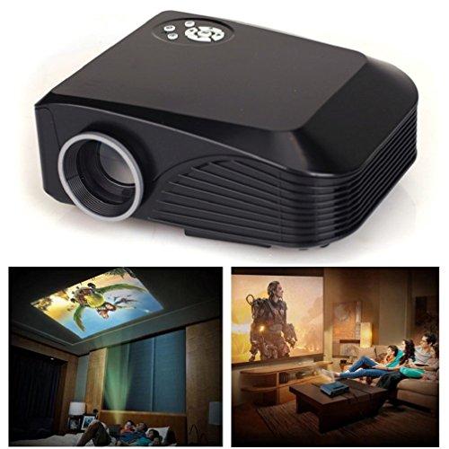 Preisvergleich Produktbild Tonsee Home Cinema Theater Multimedia LED LCD Projektor HD 1080p PC TV VGA USB HDMI,schwarz