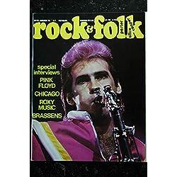 ROCK & FOLK 072 JANVIER 1973 INTERVIEWS ROXY MUSIC PINK FLOYD CHICAGO BRASSENS POSTER ALICE COOPER ANGE SANTANE