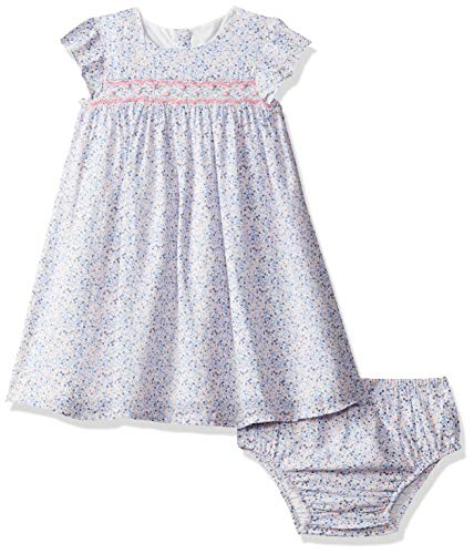 Mothercare Baby-Mädchen Blue Ditsy Smock Dress and Bloomer Set Kleid, (PINK 130), 80 cm/9-12 Monate Ditsy Floral Print