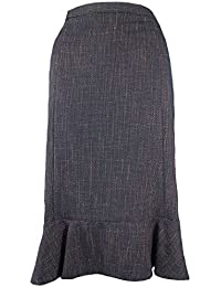 57250d82b4 Eastex Ladies Part Elasticated Waist Navy Weave Skirt