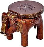 #3: Indian Culture Designer Wooden Elephant Stool Handicraft Gift (9 * 5 * 7) With Free Backflow Smoke Buddha