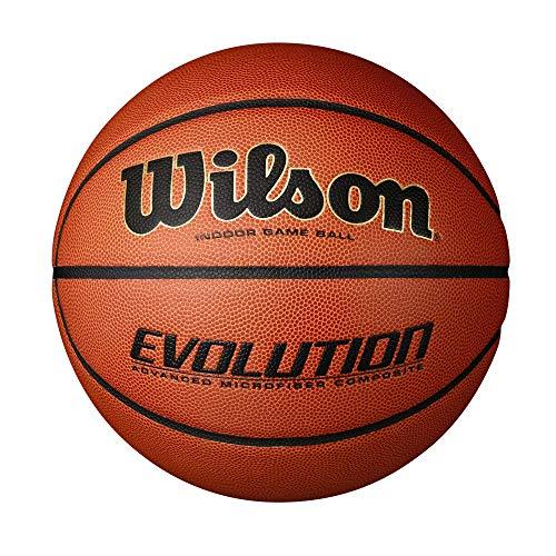 Wilson Indoor-Basketball, Wettkampf, Sportparkett, Granulat, Linolium- oder PVC-Boden, Größe 7, ab 12 Jahre, Reaction, Orange