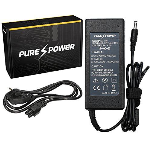 Purepower PURE⚡POWER® Laptop Netzteil für Toshiba Satellite A105-S4094 mit freie EU Stromkabel (15V, 5A, 75, 6.3-3.0)