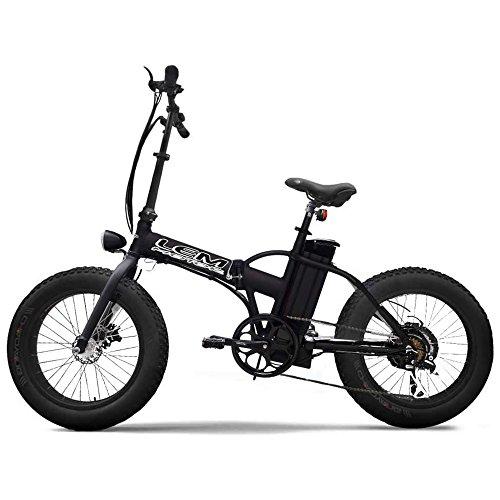 lem motor E-Bike Bicicletta Elettrica 500W Pieghevole Hyper Smart Nero