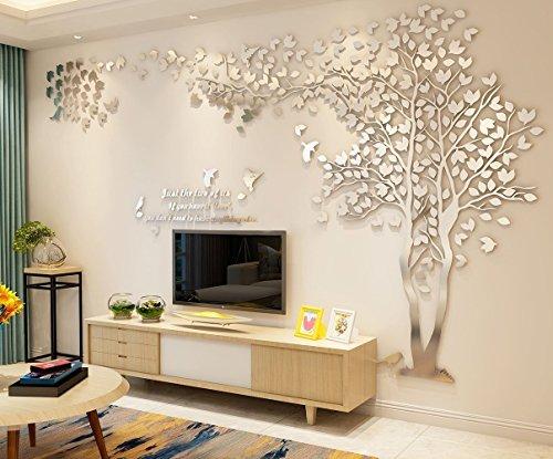 3D Pareja Árbol DIY Pegatinas de Pared de Cristal Acrílico Tatuajes de Pared Mural de la Sala de Estar Dormitorio TV Fondo del Hogar Decoración de Arte