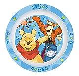 p: os 68910 Disney Winnie the Pooh plate flat, melamine, diameter 22 cm, assorted