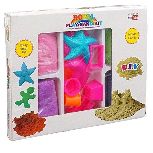 *NEU! Kinetischer Sand in 3 Farben + 12 Sandformen – Highlight 2017 – Kinetic Sand mit hohem Spaßfaktor*
