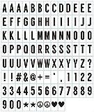 infactory Zubehör zu Kino Leuchtkasten: 100-tlg. Buchstaben- & Symbol-Set f. Leuchtkästen, schwarz, 7 x 3,5 cm (LED Leuchtkasten)