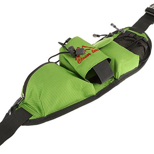 Sharplace Multi Tasca Marsupio Di Cintura Viaggiare Arrampicata Tessuto Accesorio Sportivo - Nero Verde