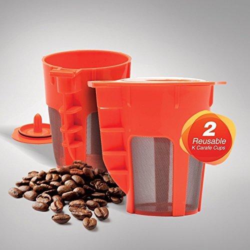 EZ Brew 2Stück wiederverwendbar Karaffe k-cups. Wiederverwendbar Kaffee Filter für die Keurig 2.0, K200, K300, K400, K500 (Karaffe K-cups)