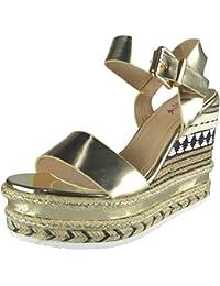 Femmes Sangle de cheville Espadrilles Plateforme Coin Des sandales Taille 36-41