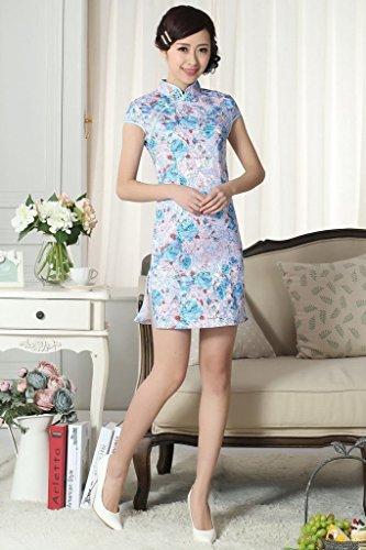 Bigood Robe Qipao Femme Cheongsam Court Cérémonie Maraige Mode Style E Style E