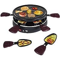 TKG TKG RAC 1008 CS 6 Person Raclette Grill, 800 W, Aubergine/Black