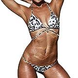 B-commerce Frauen Leopard Bikini Sets Gepolsterte Push Up BH Badeanzug Badeanzug Strap Bademode Beachwear Badeanzug FüR Teen MäDchen