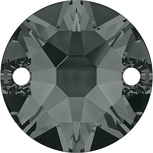 Pierres de Strass au point de Swarovski Elements rond 8mm (Black Diamond), 12 Pièces