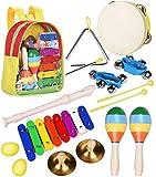 Smarkids Kinder Musikinstrumenten Spielzeug Set Schlaginstrument Musikalisches Spielzeug für Kinder Vorschulunterricht Pädagogisches Spielzeug für Mädchen und Jungen