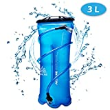 TRIWONDER 1.5-2-3L BPA Free Trinkblase Wasserreservoir für Radfahren Wandern Camping Rucksack (3L / 100oz (TPU))