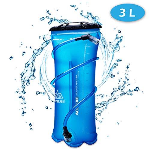 TRIWONDER 1.5-2-3L BPA Free Trinkblase Wasserreservoir für Radfahren Wandern Camping Rucksack (3L / 100oz (TPU)) (100 Oz-blase)
