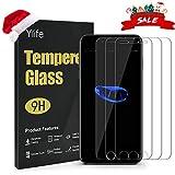 Ylife Panzerglas Schutzfolie Kompatibel iPhone 7 Plus iPhone 8 Plus, (3 Stück) 9H Härte Displayschutzfolie, 99% Ultra-klar Panzerglasfolie, Anti-Bläschen, Anti-Fingerprint, Kratzfest (5.5 Zoll)