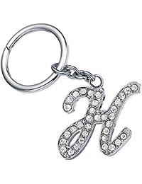 Monnel Fashion Bling Bling Letter H Key Ring Creative Packaging Design Box Z-41
